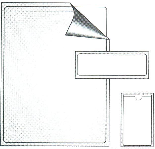 23413A, Thumbnotched Adhesive Backed Pocket