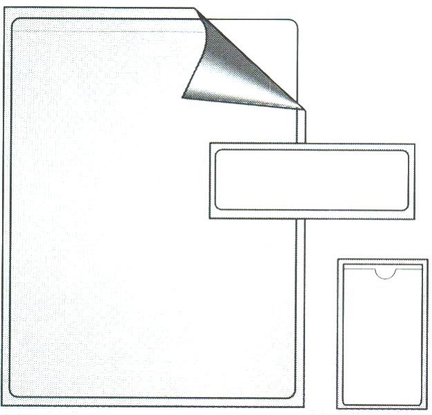 23415A, Thumbnotched Adhesive Backed Pocket