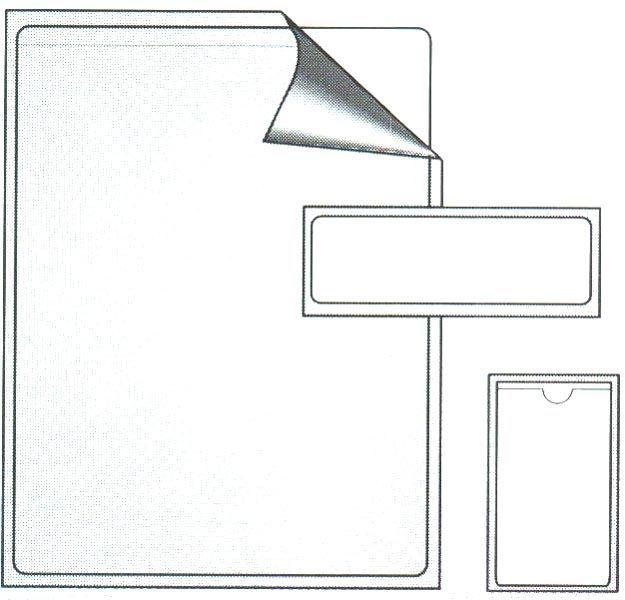 23058L, Adhesive Backed Pocket